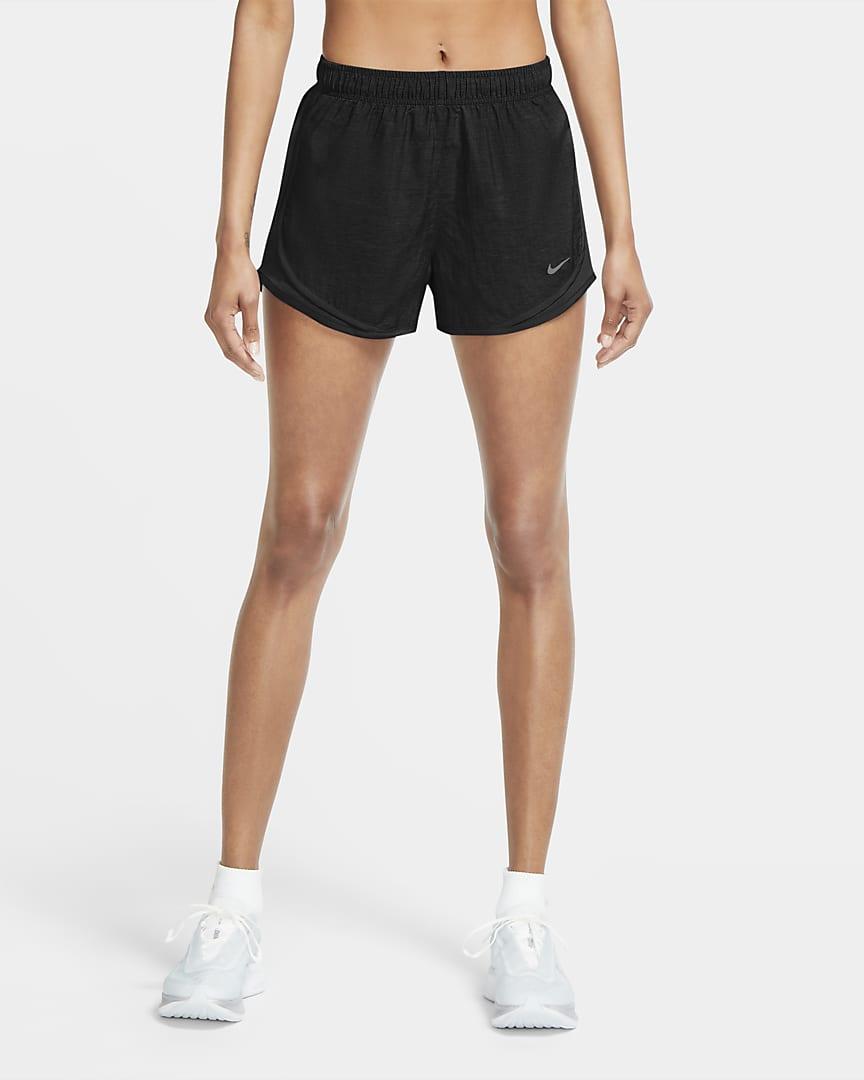 Nike Tempo Women\'s Heathered Running Shorts Black Heather/Black/Black/Wolf Grey
