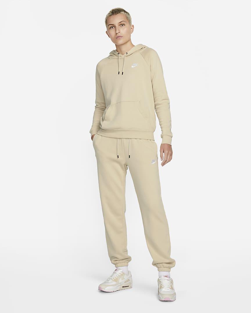 Nike Sportswear Essential Women\'s Fleece Pants Rattan/Rattan/White
