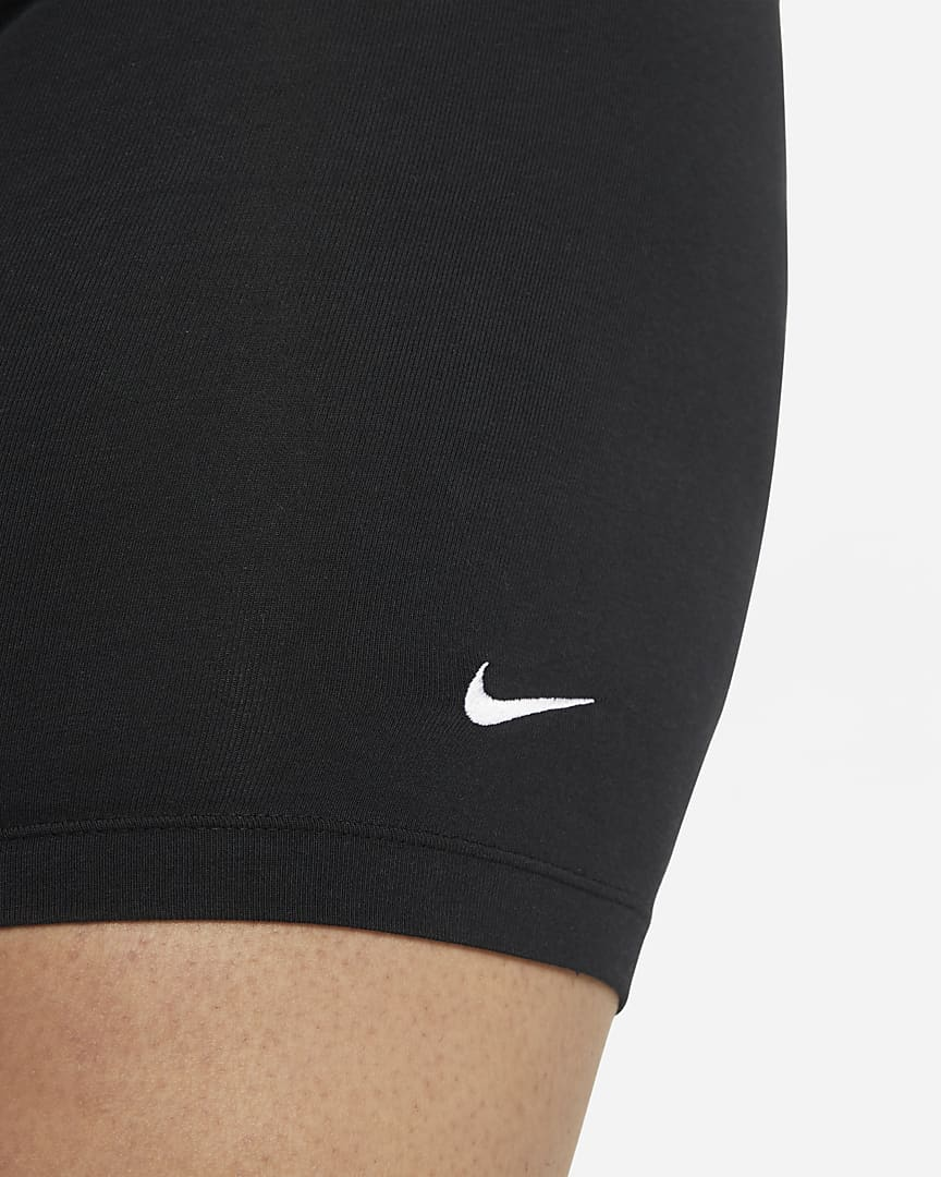 Nike Sportswear Essential Women\'s Mid-Rise Bike Shorts (Plus Size) Black/White