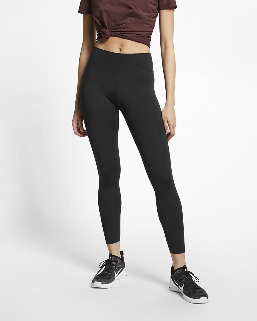 Nike One Luxe Women\'s Mid-Rise 7/8 Leggings Black/Clear