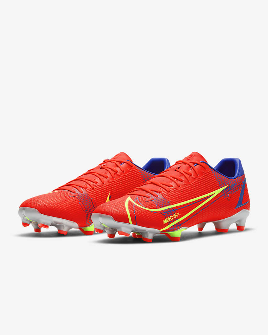 Nike Mercurial Vapor 14 Academy FG/MG Multi-Ground Soccer Cleat Bright Crimson/Indigo Burst/White/Metallic Silver