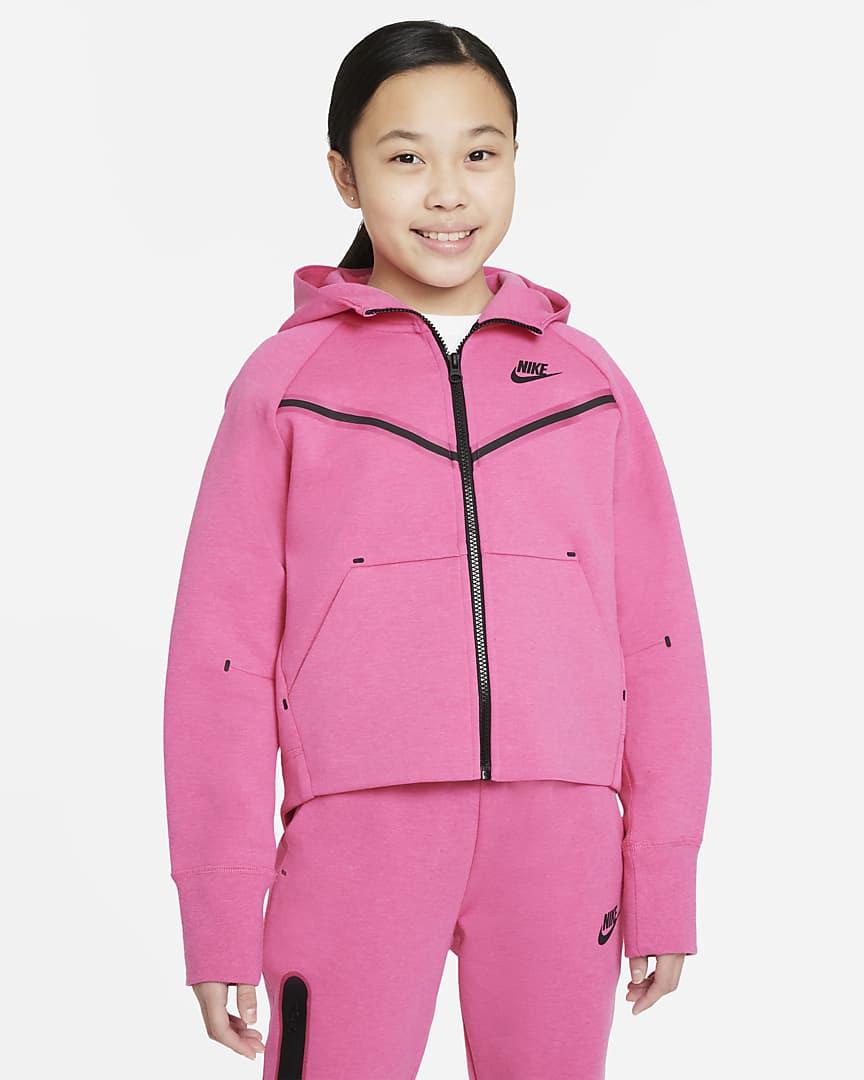 Nike Sportswear Tech Fleece Big Girls' Full-Zip Hoodie
