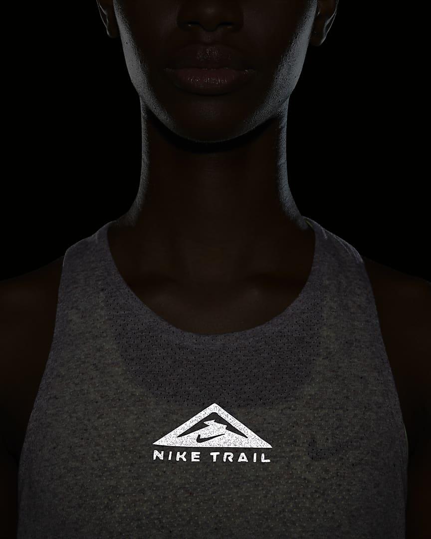 Nike City Sleek Women\'s Trail Running Tank Team Red/Iron Grey/Heather