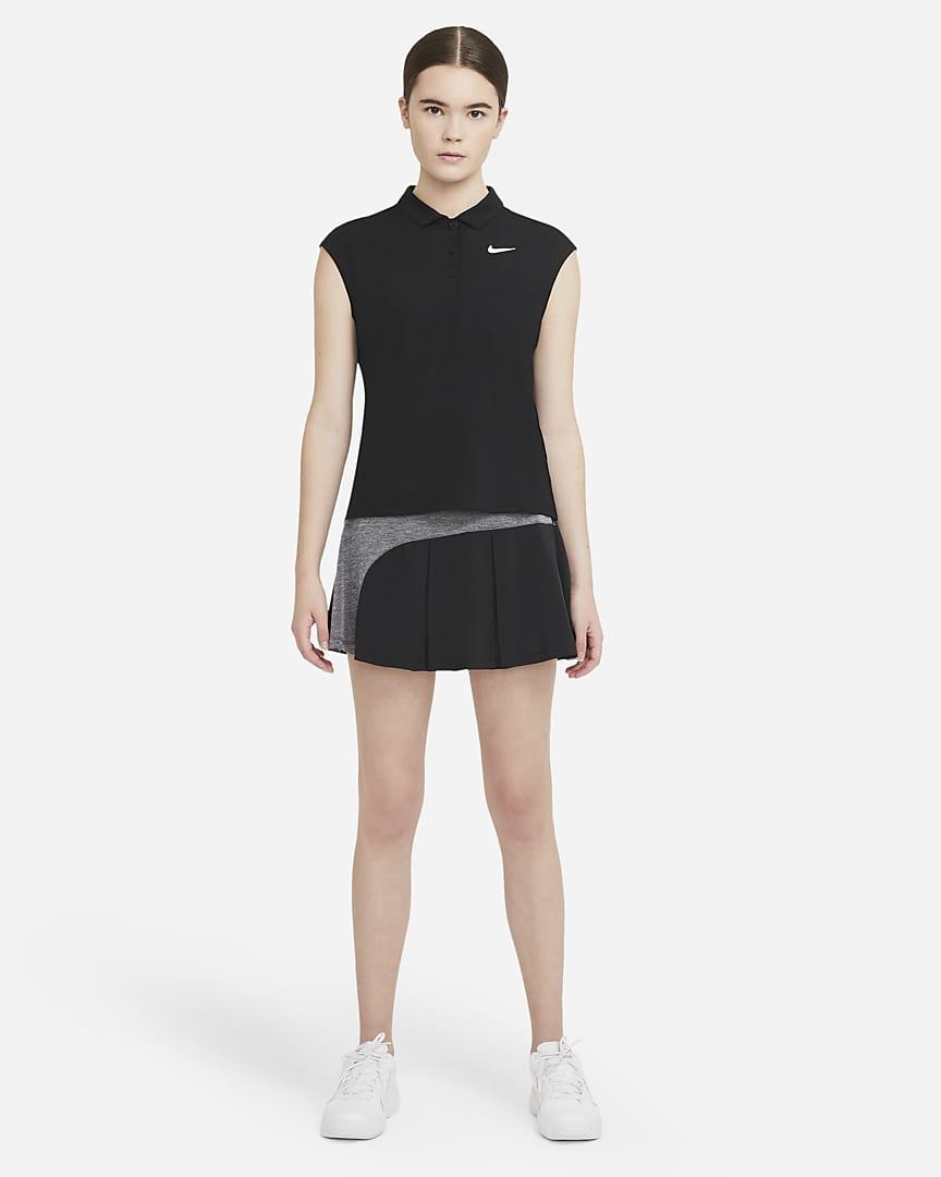 NikeCourt Victory Women\'s Tennis Polo Black/White