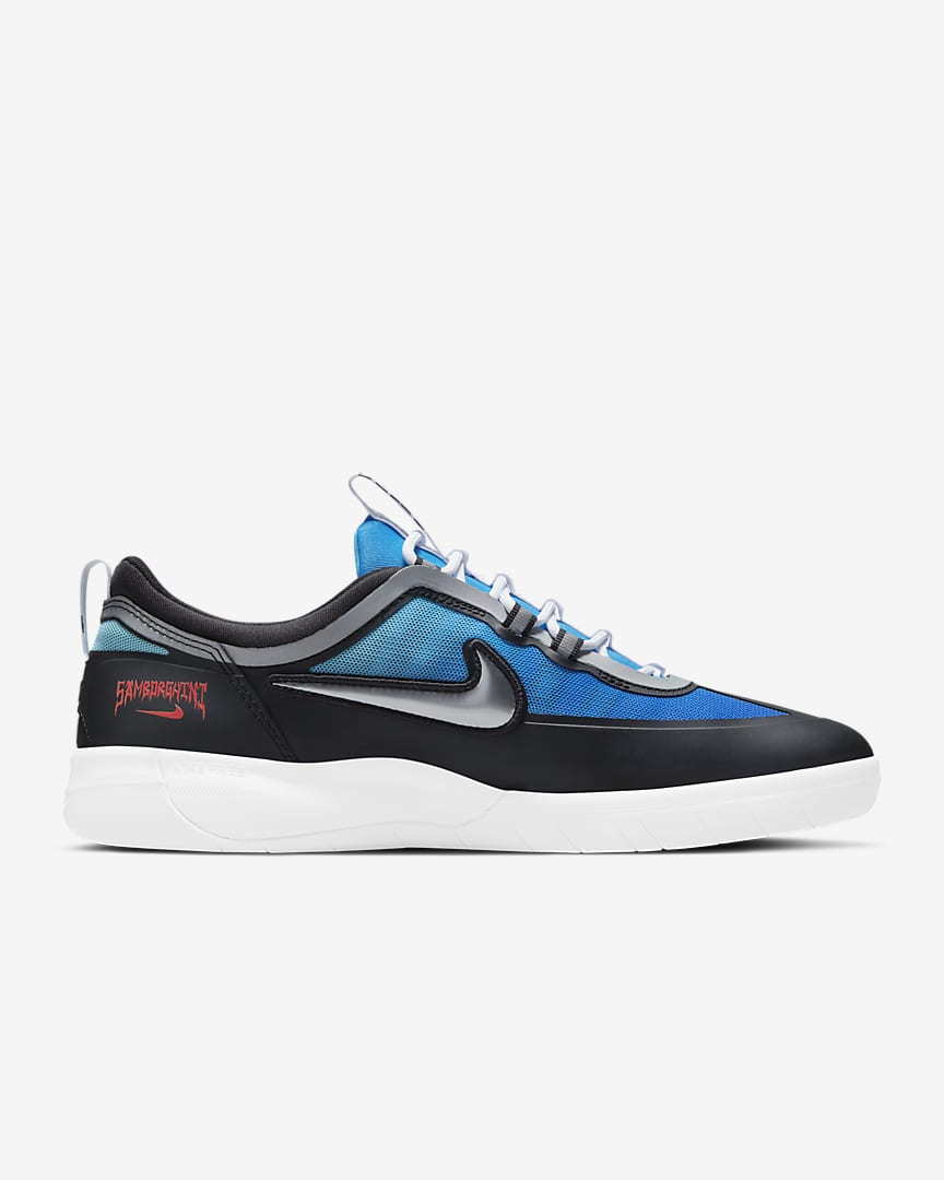 Nike SB Nyjah Free 2 Premium Skate Shoe Light Photo Blue/Game Royal/Crimson/Metallic Silver