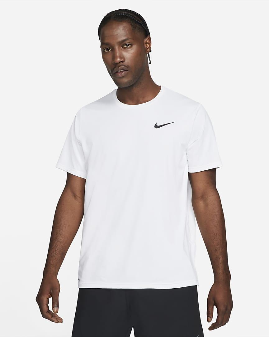 Nike Pro Dri-FIT Men\'s Short-Sleeve Top White/Black