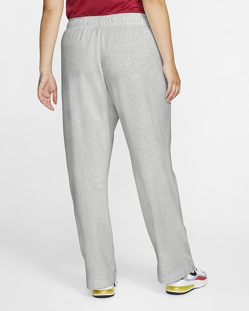 Nike Sportswear Club Fleece Women\'s Pants (Plus Size) Dark Grey Heather/Matte Silver/White