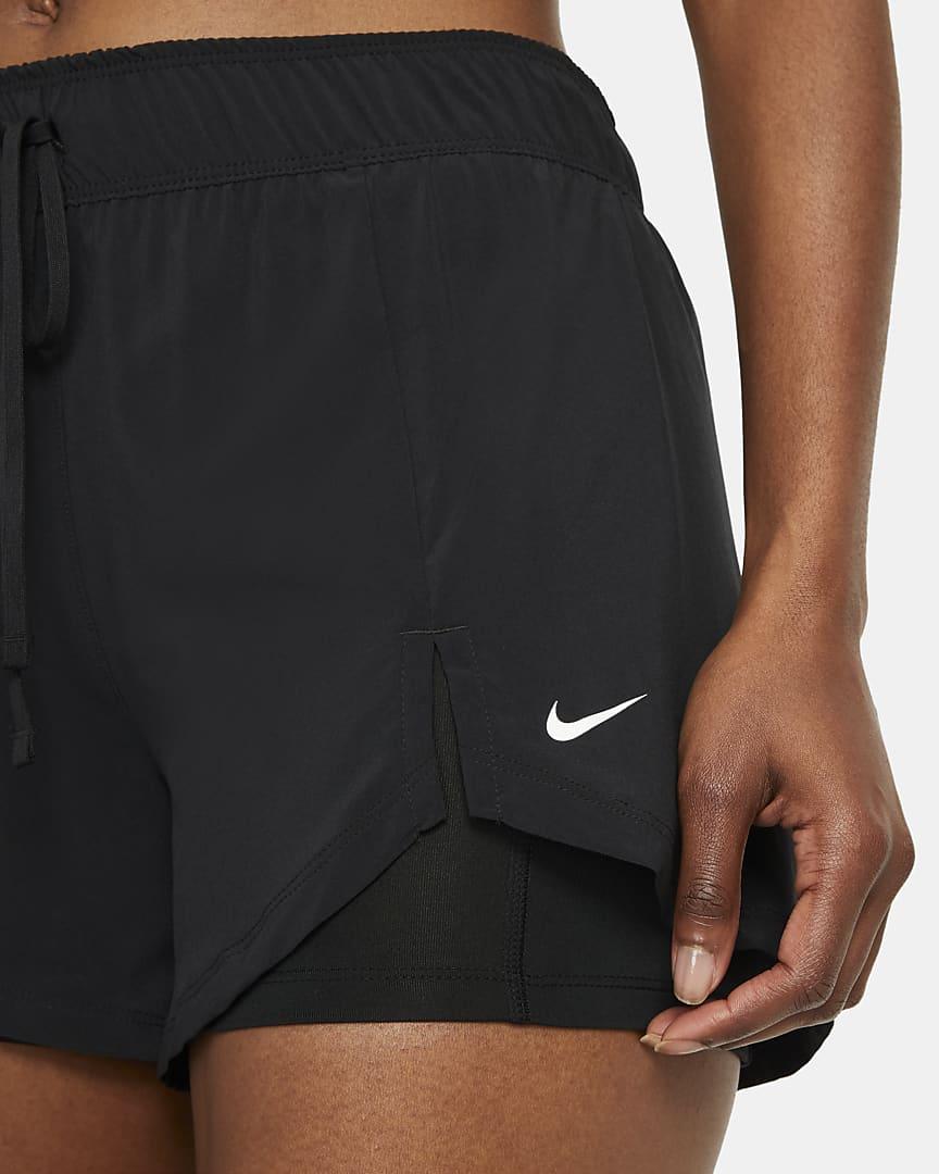 Nike Flex Essential 2-in-1 Women\'s Training Shorts Black/Black/White