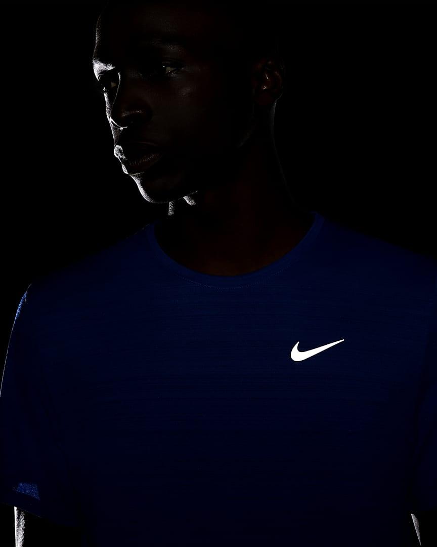 Nike Dri-FIT Miler Men\'s Running Top Game Royal