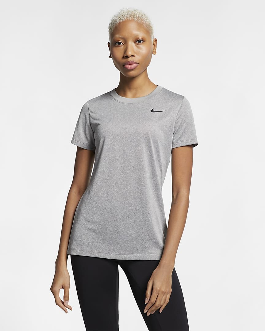 Nike Dri-FIT Legend Women\'s Training T-Shirt Dark Grey Heather/Black
