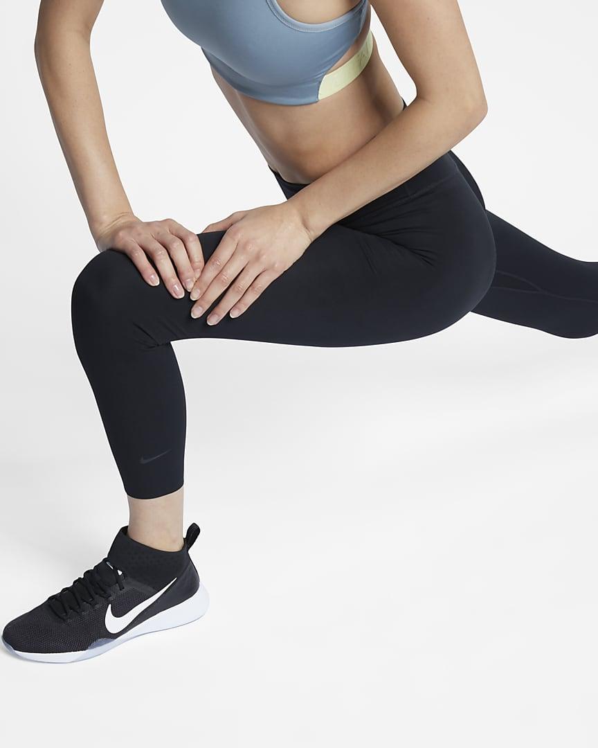 Nike One Luxe Women\'s Mid-Rise Crop Leggings Black/Clear