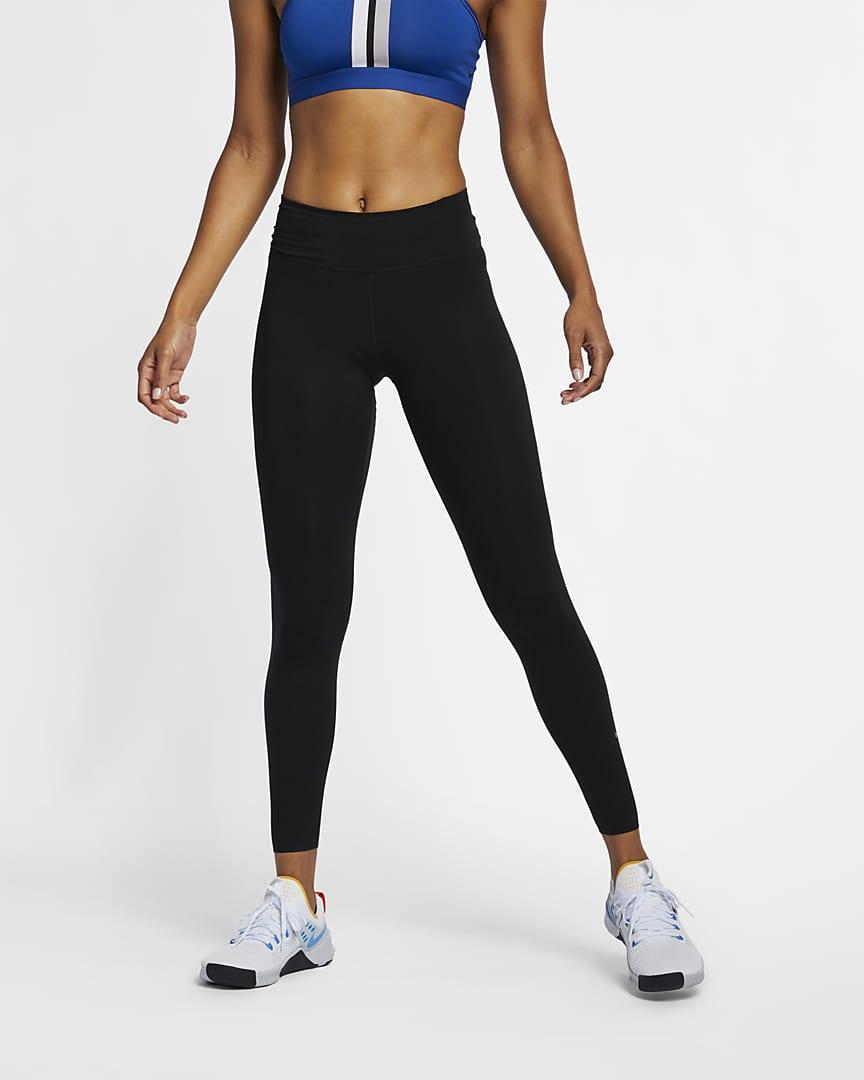 Nike One Luxe Women\'s Mid-Rise Leggings Black/Clear