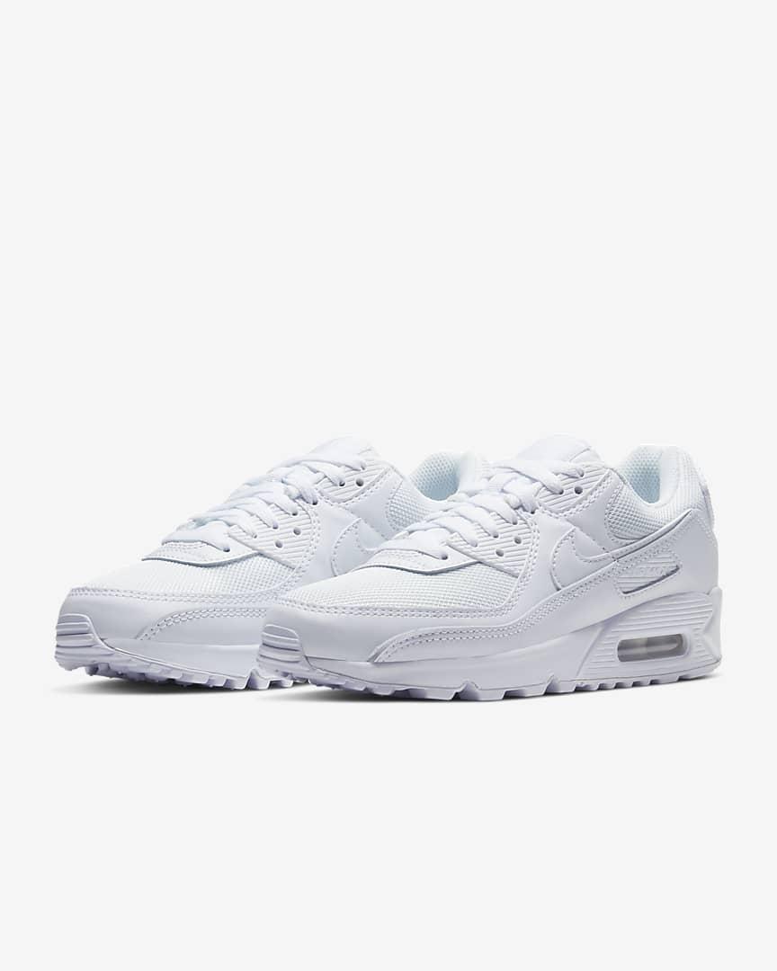 Nike Air Max 90 Women\'s Shoes White/White/Wolf Grey/White