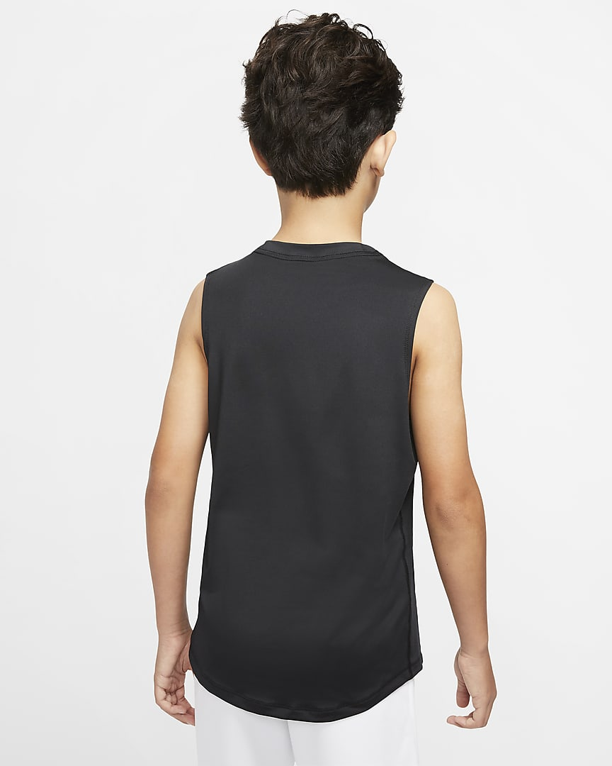Nike Pro Big Kids\' (Boys\') Top Black/White