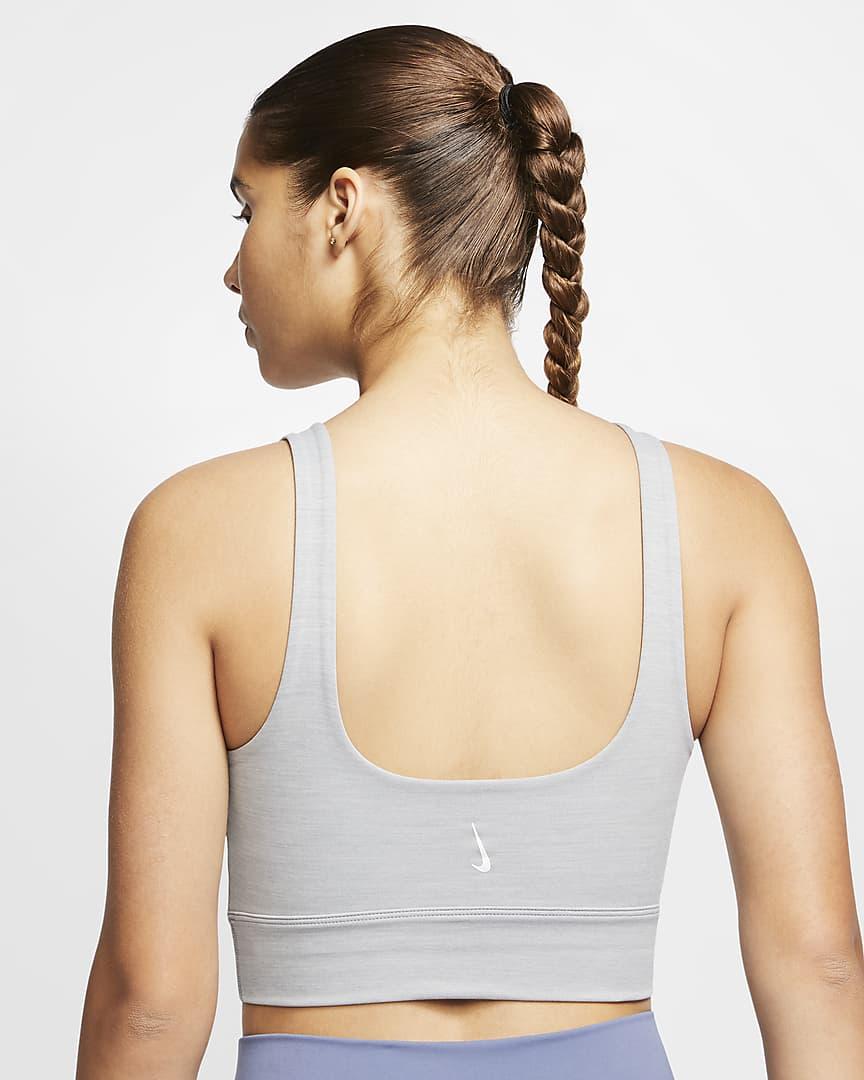 Nike Yoga Luxe Women\'s Infinalon Crop Top Particle Grey/Heather/Platinum Tint