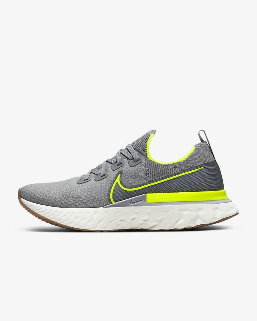 Nike React Infinity Run Flyknit grises