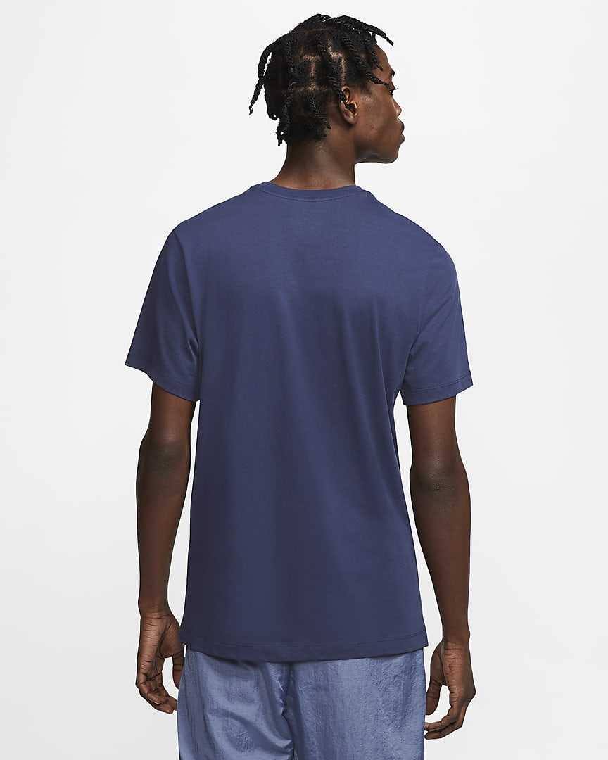 Nike Sportswear Men\'s T-Shirt Midnight Navy/White