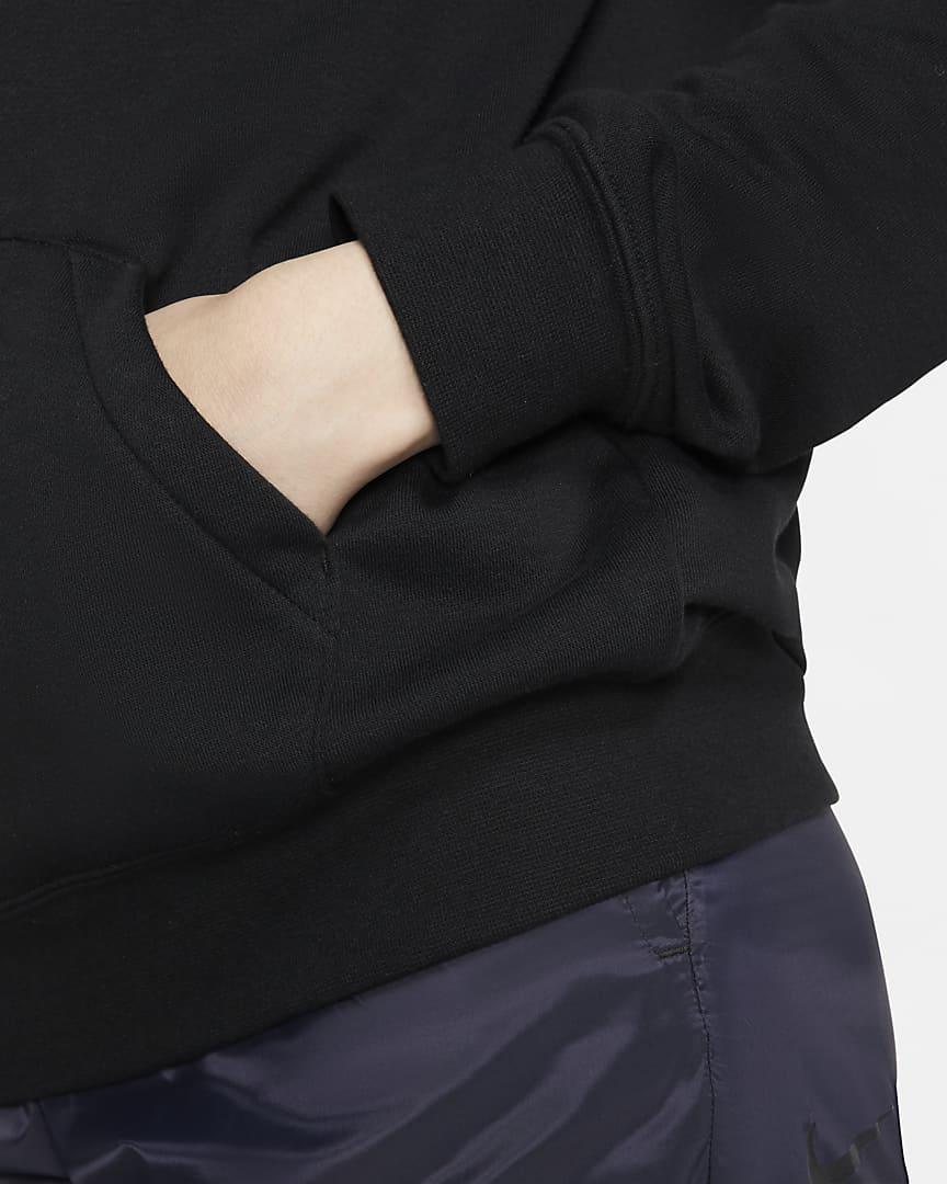 Nike Sportswear Essential Women\'s Fleece Pullover Hoodie Black/White