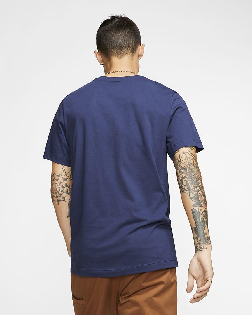 Nike Sportswear Club Men\'s T-Shirt Midnight Navy/White