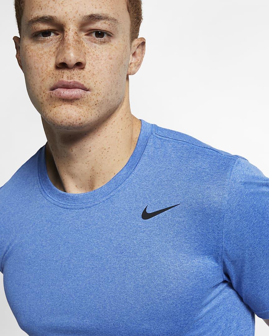 Nike Dri-FIT Legend Men\'s Training T-Shirt Light Game Royal Heather/Black