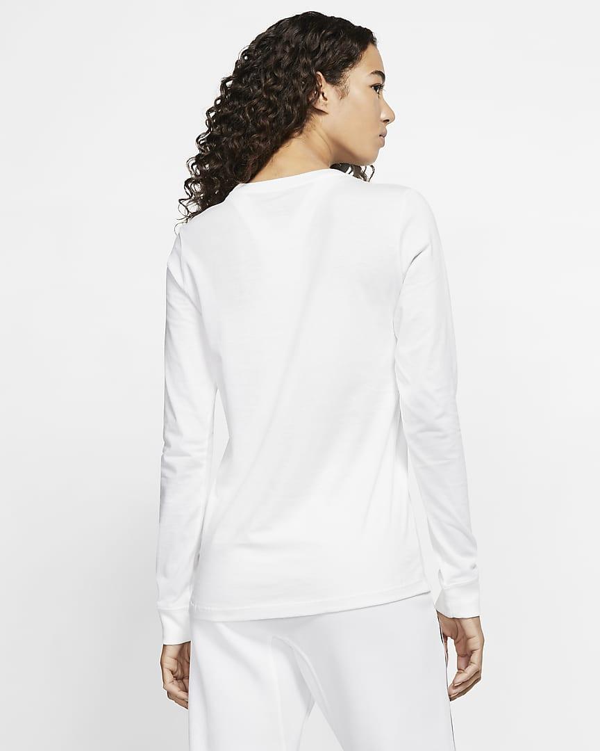 Nike Sportswear Women\'s Long-Sleeve T-Shirt White/Black