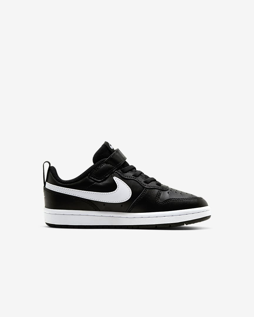 Nike Court Borough Low 2 Little Kids\' Shoes Black/White