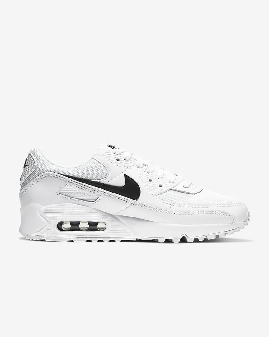 Nike Air Max 90 Women\'s Shoes White/White/Black