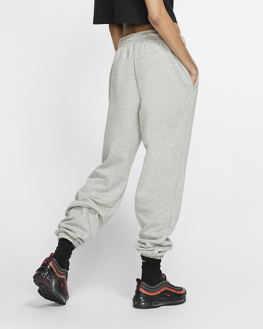 Nike Sportswear Essential Women\'s Fleece Pants Dark Grey Heather/White