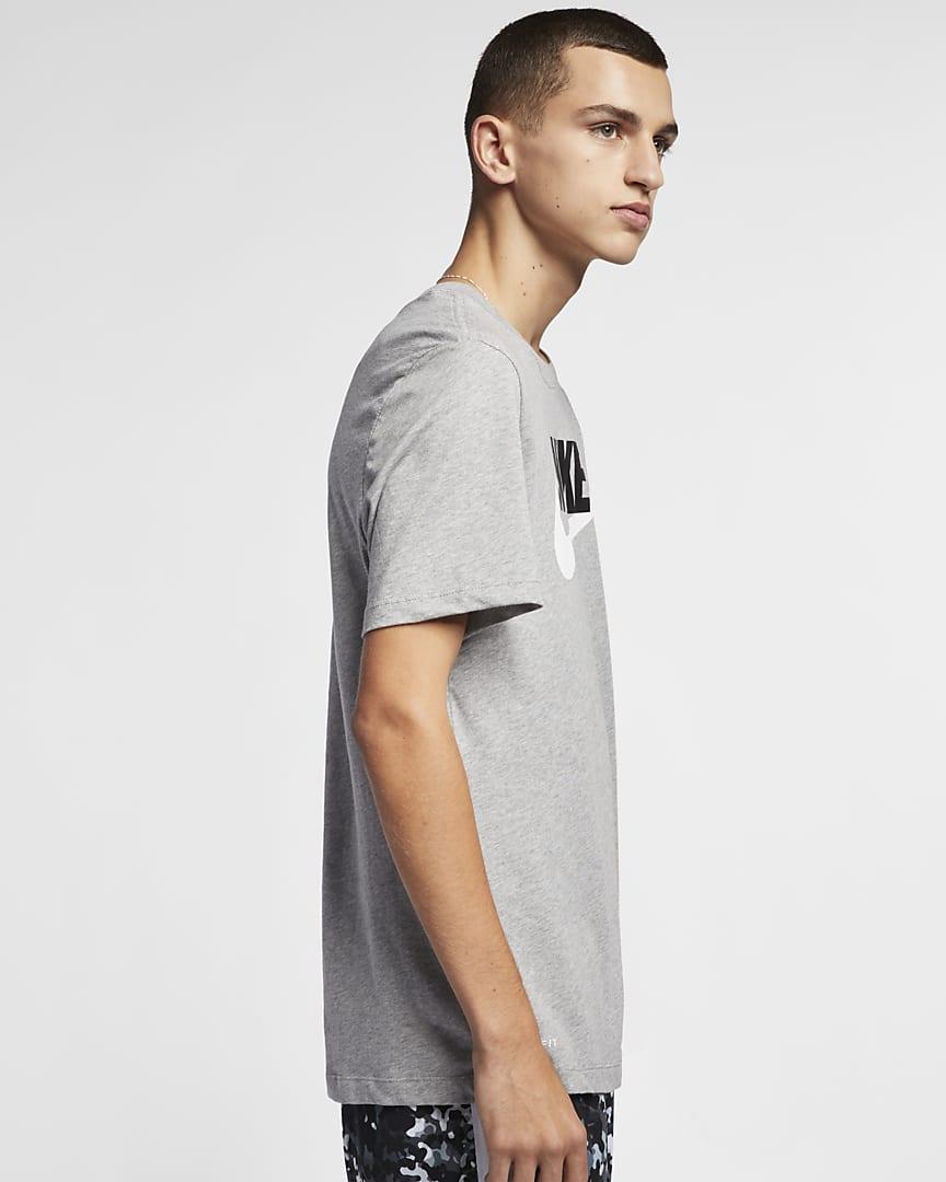 Nike Sportswear Men\'s T-Shirt Dark Grey Heather/Black/White