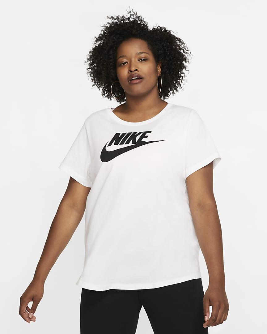 Nike Sportswear Essential Women\'s T-Shirt (Plus Size) White/Black