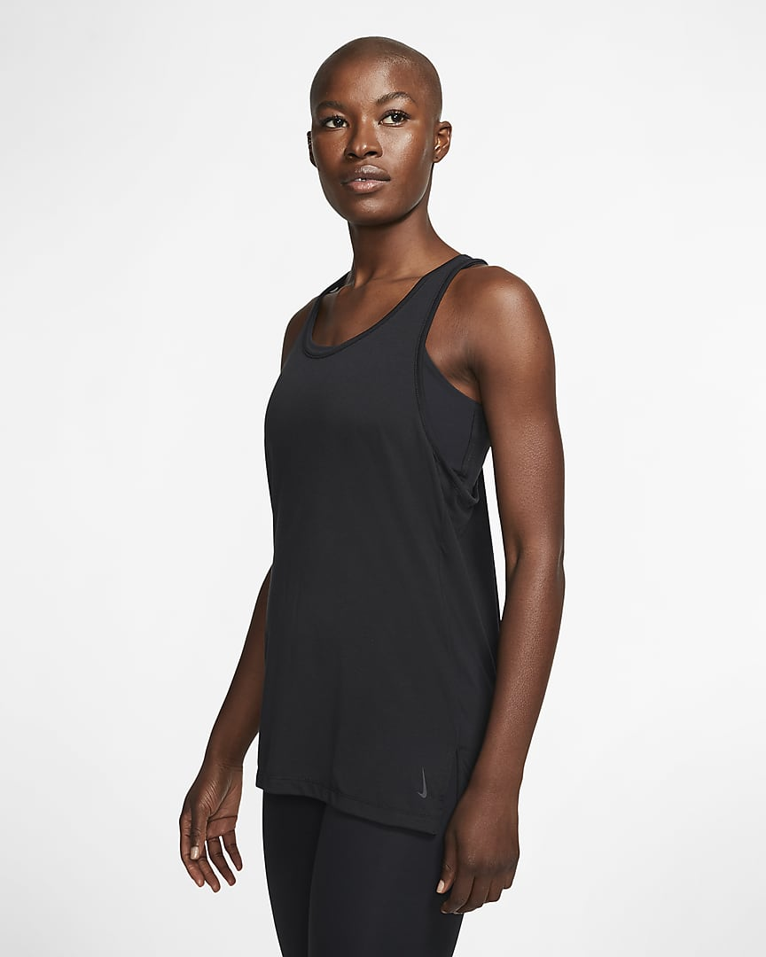 Nike Yoga Women\'s Tank Black/Dark Smoke Grey