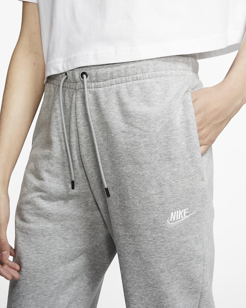 Nike Sportswear Essential Women\'s Fleece Pants Dark Grey Heather/Matte Silver/White