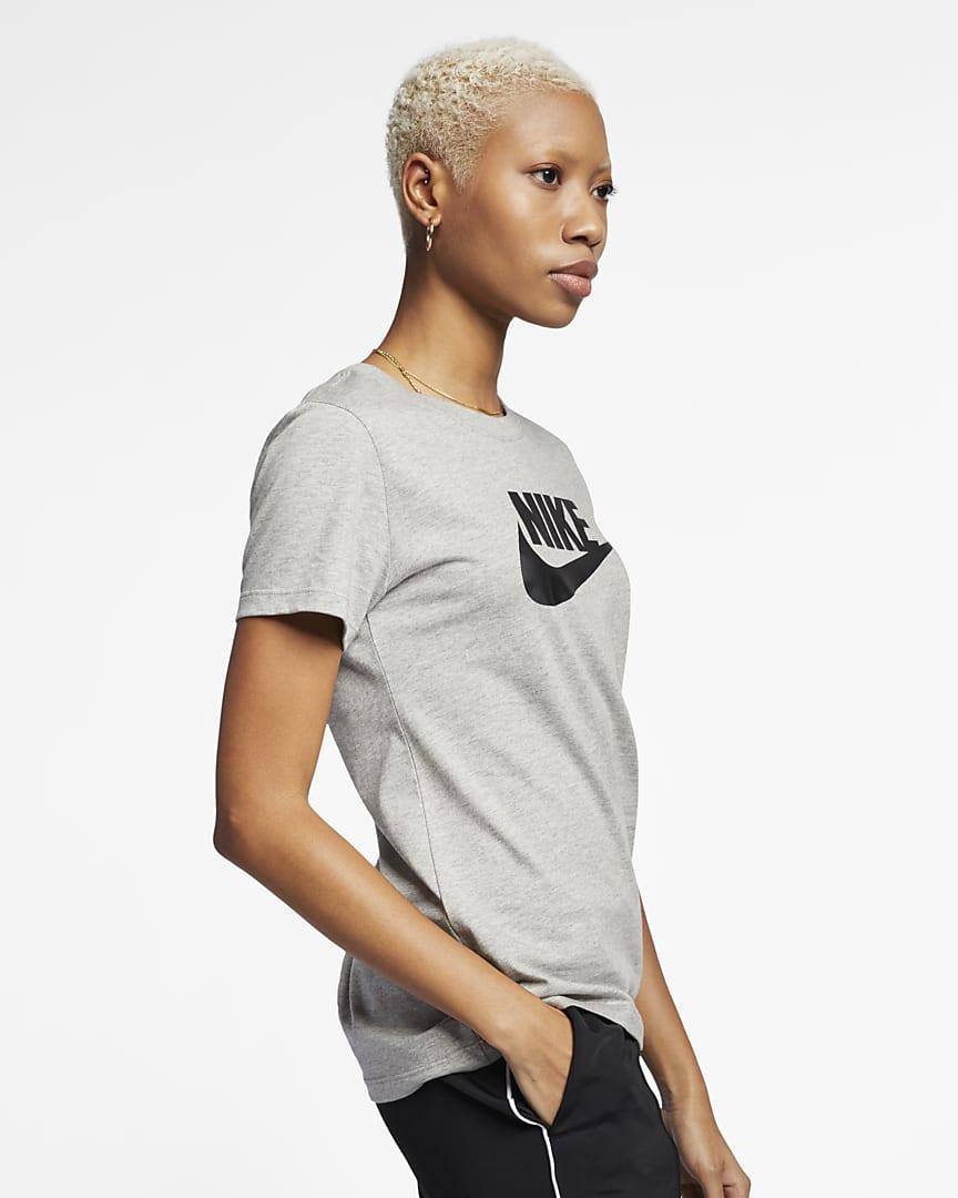 Nike Sportswear Essential T-Shirt Dark Grey Heather/Black