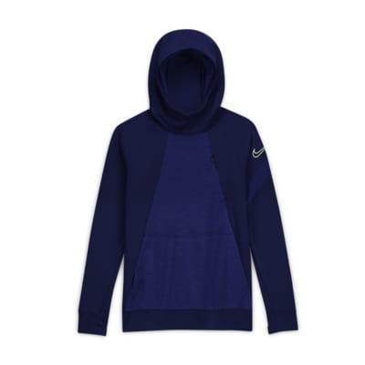 Nike Dri-FIT Academy Older Kids' Pullover Football Hoodie