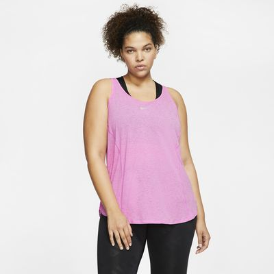 Camiseta de tirantes de running para mujer Nike 10K (talla grande)