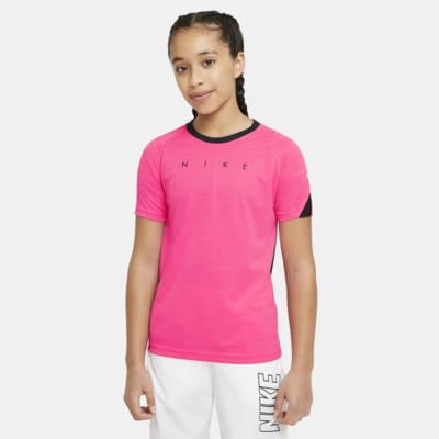 Fotbalové tričko Nike Dri-FIT Academy s krátkým rukávem a grafickým motivem pro větší děti.