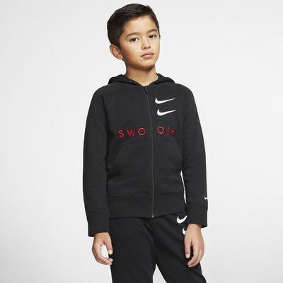 Felpa in French Terry con cappuccio e zip a tutta lunghezza Nike Sportswear Swoosh - Ragazzo