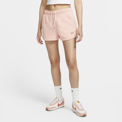 Calções em tecido moletão Nike Sportswear Swoosh para mulher