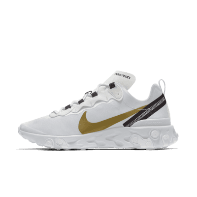 Chaussure lifestyle personnalisable Nike React Element 55 By You pour Homme