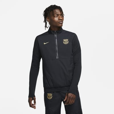 F.C. Barcelona Men's 1/2-Zip Woven Football Tracksuit Jacket