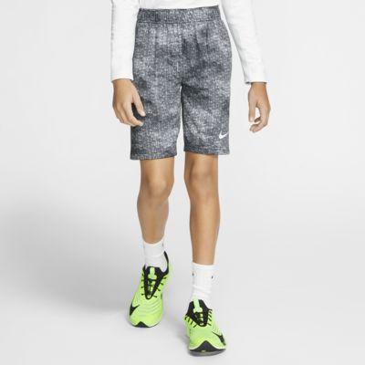 Nike Dri-FIT-træningsshorts med print til store børn (drenge)