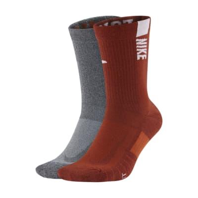 Nike College Multiplier (Texas) Crew Socks (2 Pairs)