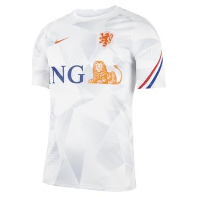 Niederlande Kurzarm-Fußballoberteil für Herren