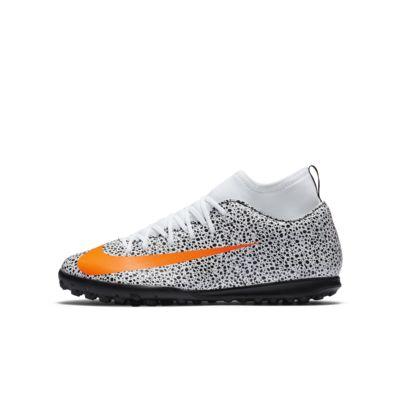 รองเท้าฟุตบอลเด็กเล็ก/โตสำหรับพื้นหญ้าเทียมสั้น Nike Jr. Mercurial Superfly 7 Club CR7 Safari TF