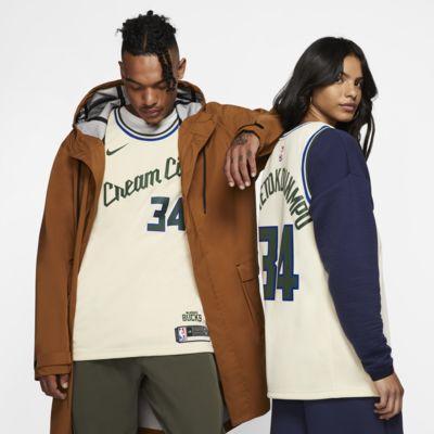 Camiseta Nike NBA Swingman Giannis Antetokounmpo Bucks – City Edition