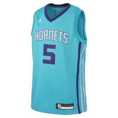 Nicolas Batum Hornets Icon Edition authentisches Jordan NBA-Trikot für ältere Kinder