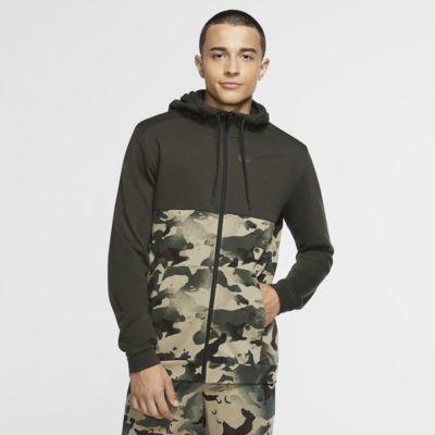 Sweat à capuche de training camouflage entièrement zippé Nike Dri-FIT pour Homme