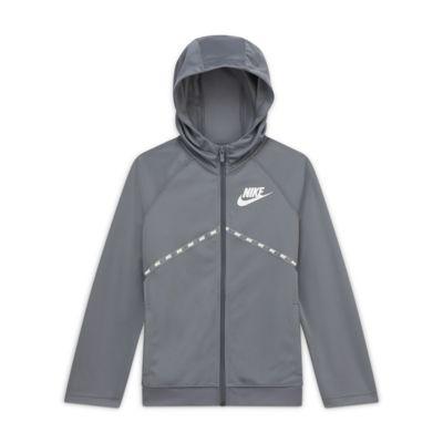 Mikina Nike Sportswear s kapucí a dlouhým zipem pro větší děti (chlapce)