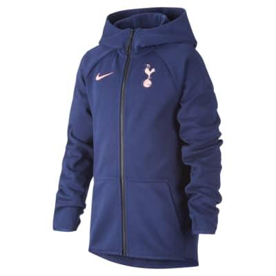 Tottenham Hotspur Tech Fleece hosszú cipzáras, kapucnis futballpulóver nagyobb gyerekeknek