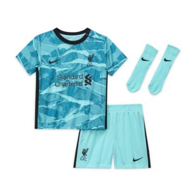 Liverpool FC 2020/21 Away-fodboldsæt til babyer/småbørn